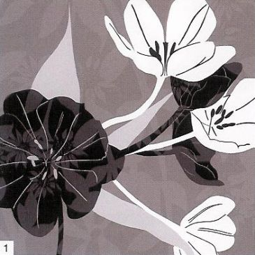 Obrazy  KK Monochrome Tulip Collage, Kate Knight