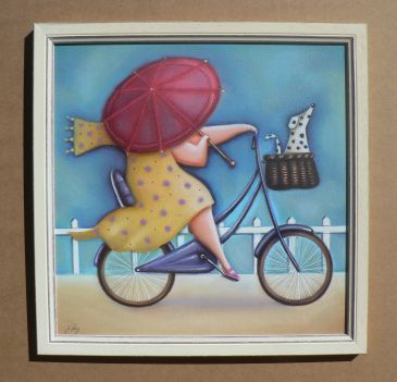 Obrazy - Bicycle Lady III, Jo Parry