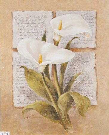 Obrazy  LM Calla Lily Poetry, Laura Martinelli
