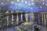 Plakáty / Starry Night over the Rhone, 1888