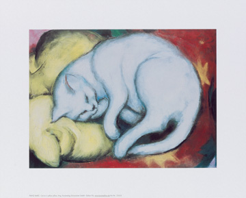 Reprodukce - Expresionismus - Cat on a yellow pillow, Franz Marc