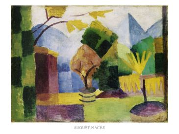 Reprodukce - Expresionismus - Garten am Thuner See, August Macke