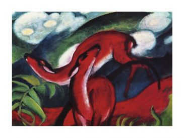 Reprodukce - Expresionismus - The red Deer, Franz Marc