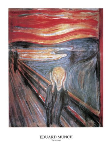 Reprodukce - Expresionismus - The Scream, Edvard Munch