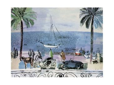 Reprodukce - Fauvismus - Promenade a Nice, Raoul Dufy