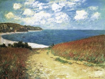 Reprodukce - Impresionismus - Meadow Road to Pourville, 1882, Claude Monet