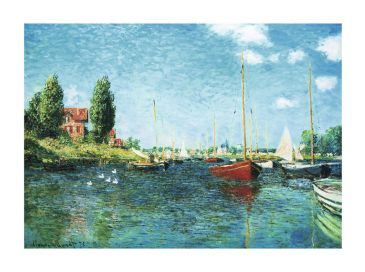 Reprodukce - Impresionismus - Red Boats, Claude Monet