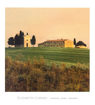 Reprodukce - Krajiny - Evening Light, Tuscany, Elisabeth Carmel