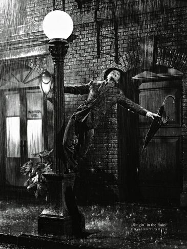 Reprodukce - Lidé - Gene Kelly singing in the Rain, Liby