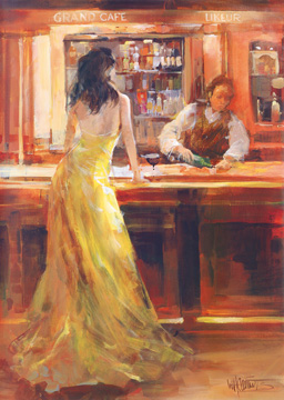 Reprodukce - Lidé - Lady in Grand Cafe, Willem Haenraets
