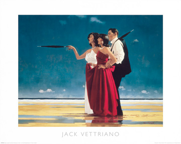 Reprodukce - Lidé - The Missing Man I, Jack Vettriano