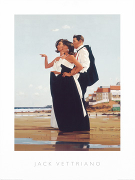 Reprodukce - Lidé - The Missing man II, Jack Vettriano