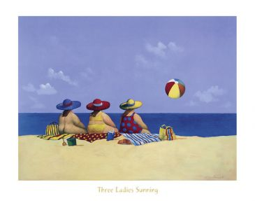 Reprodukce - Lidé - Three Ladies Sunning, Michael Paraskevas