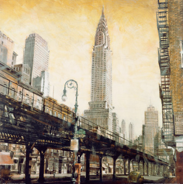 Reprodukce - Města - The Chrysler Building from the L, Matthew Daniels