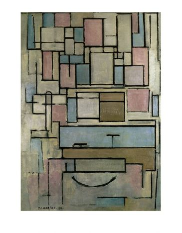 Reprodukce - Modernismus - Composition with Color Areas, Piet Mondrian
