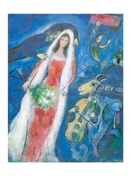 Reprodukce - Modernismus - La Mariee, 1950, Marc Chagall