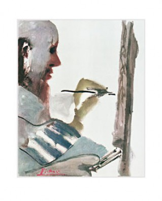 Reprodukce - Modernismus - The painter at work, Pablo Picasso