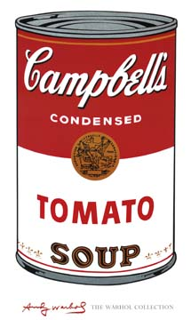 Reprodukce - Pop a op art - Campbell's Soup I, Andy Warhol