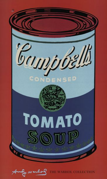 Reprodukce - Pop a op art - Campbell's Soup IV, Andy Warhol