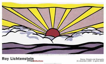 Reprodukce - Pop a op art - Sunrise, Roy Lichtenstein