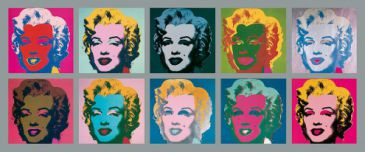 Reprodukce - Pop a op art - Ten Marilyns, 1967, Andy Warhol