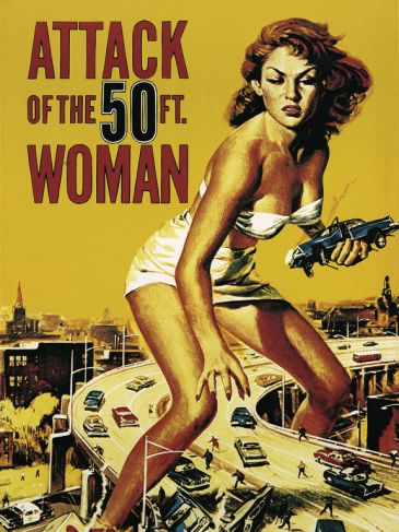 Reprodukce - Poster art - Attack of the 50FT. Woman, Liby
