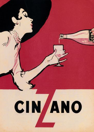 Reprodukce - Poster art - Cinzano, Ernest