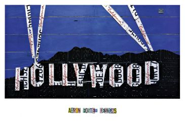 Reprodukce - Poster art - Hollywood Sign at Night, Aaron Foster