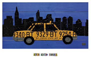 Reprodukce - Poster art - Taxi Cab, Aaron Foster