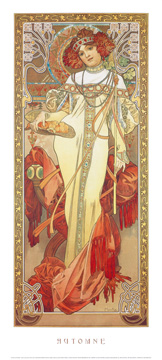 Reprodukce - Realismus - Automne, 1900, Alfons Mucha