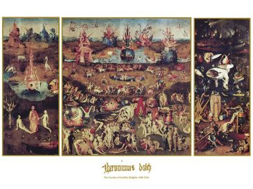 Reprodukce - Renesance - Garden of earthly Delight, Hieronymus Bosch