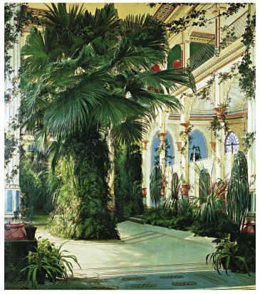 Reprodukce - Romantismus - Interior of a Palm House, Karl Blechen