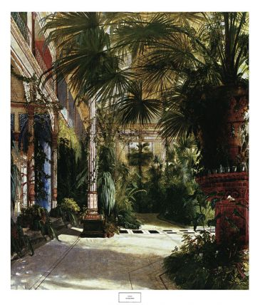 Reprodukce - Romantismus - The Palm House, Karl Blechen