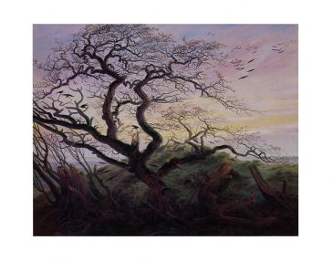 Reprodukce - Romantismus - Tree with Crows, Caspar David Friedrich
