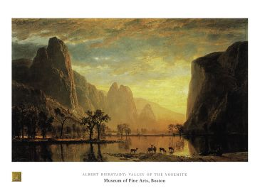 Reprodukce - Romantismus - Valley of the Yosemite, Albert Bierstadt