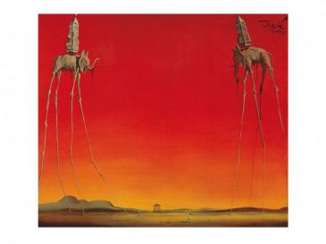 Surrealismus - Les Elephants, Salvador Dalí