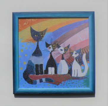 UNDER THE RAINBOW - modrá, Rosina Wachtmeister